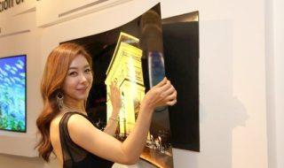 LG dévoile un écran OLED 55 pouces qui se colle au mur comme un poster !