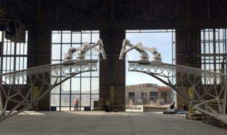 Imprimante 3D : un impressionnant pont en acier fabriqué par des robots