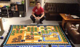 Super Mario Bros 3 : il passe six ans à recréer la carte du premier monde au crochet