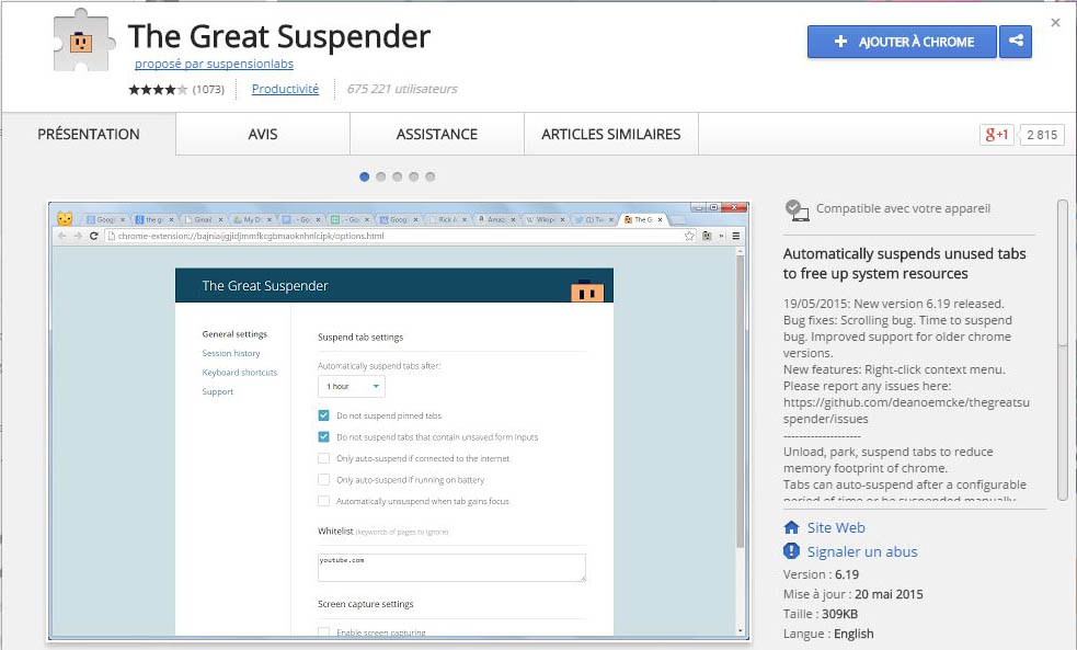 the great suspender ram chrome extension