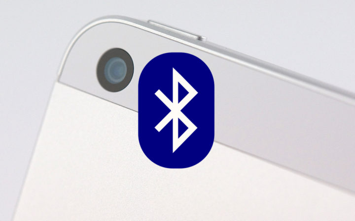Logo bluetooth sur iPhone 5s blanc