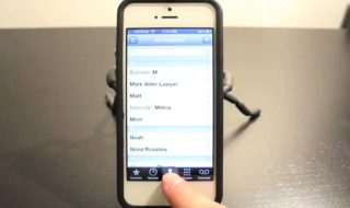 La page contacts des iPhone (source: youtube)
