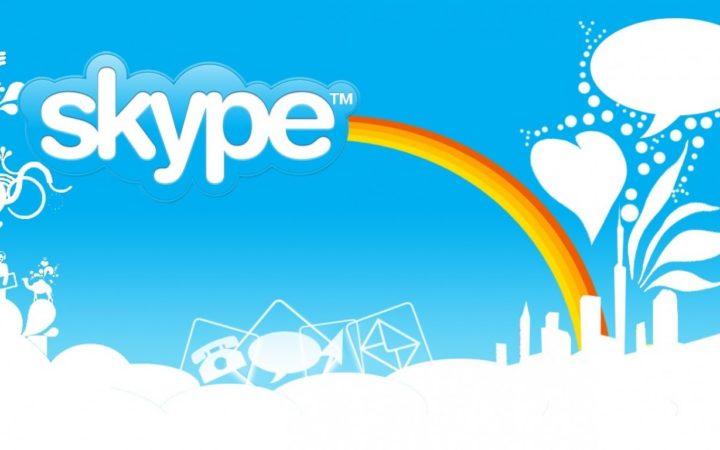 Le logo de Skype et son arc-en-ciel kawaï