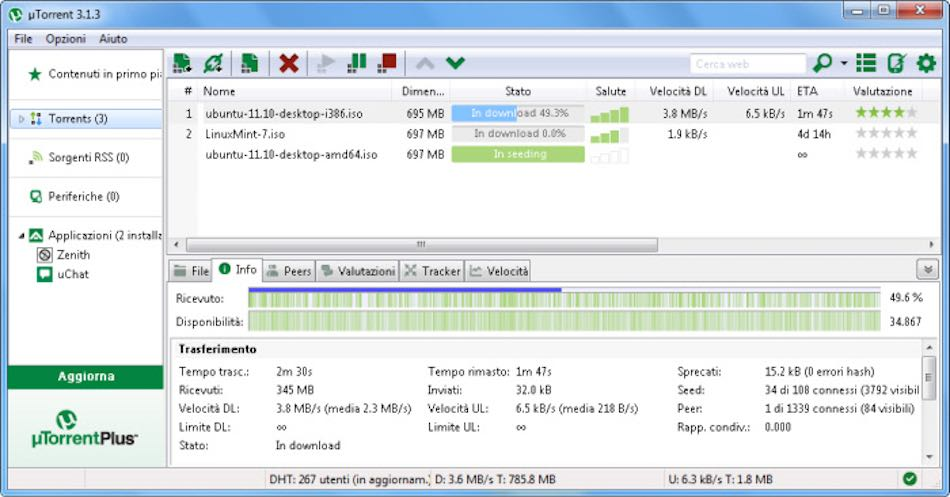 Le client torrent multiplateformes uTorrent