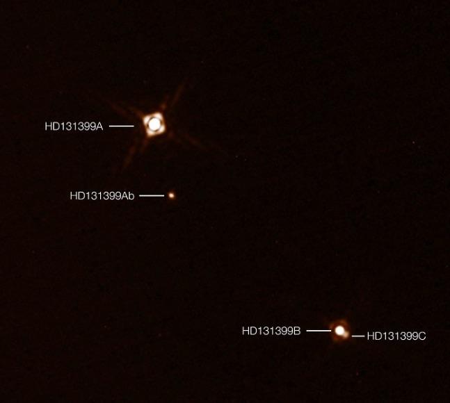 exoplanete - Des astronomes découvrent une planète géante à trois soleils