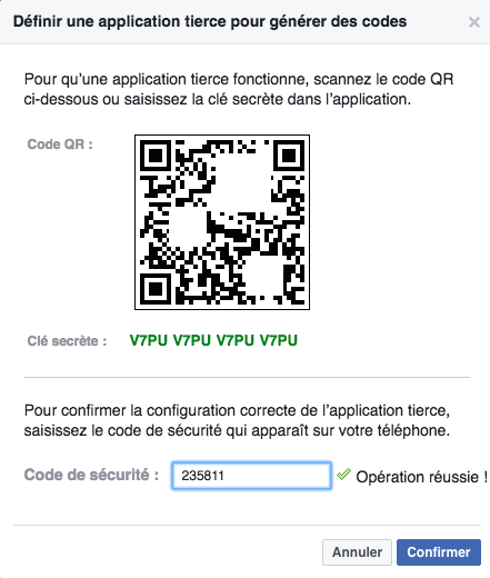 Cle secrete QR code Googe authenticator ajouter Facebook activer double authentification : comment activer la double authentification pour plus de sécurité