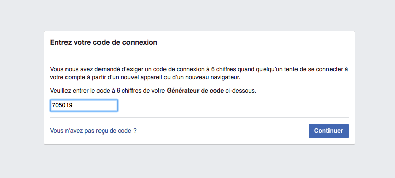 Enter double biller code Secret key QR code Googe authenticator add Facebook activate double authentication: how to activate double authentication for more security