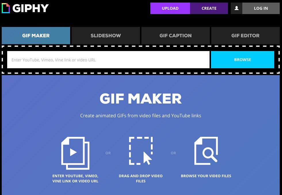 Giphy create GIF