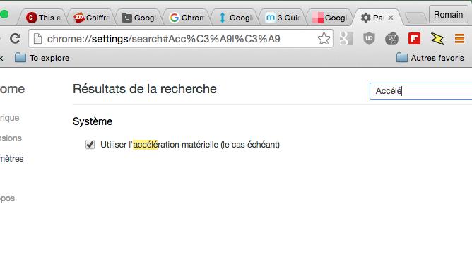 Google Chrome Activer Accélération Matérielle