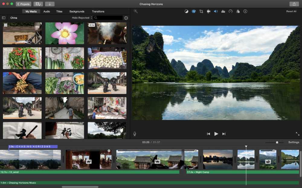 imovie - Les meilleurs logiciels de montage video gratuits