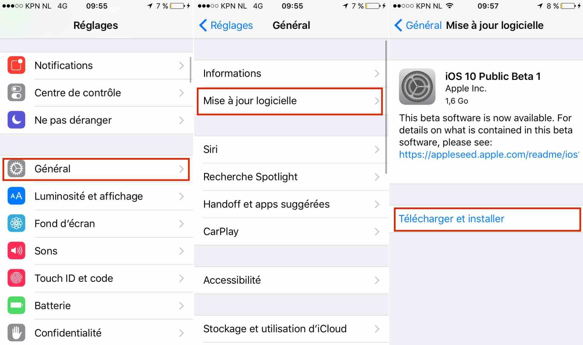 installer iOS 10 bêta sur votre iPhone, iPad et iPod Touch