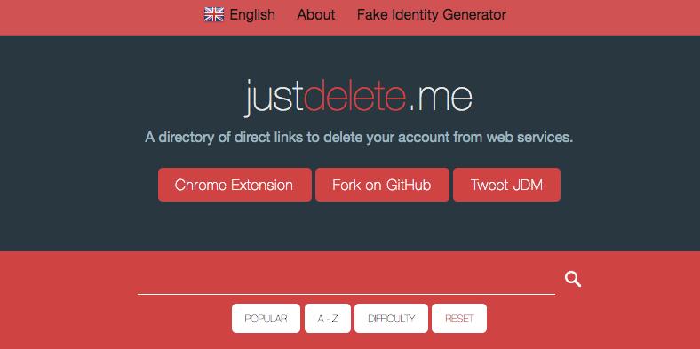 Le site JustDelete.me peut vous aider à trouver les liens pour fermer vos comptes