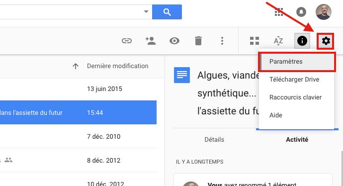 Parametres google drive Comment convertir un Google Docs en document Microsoft Word