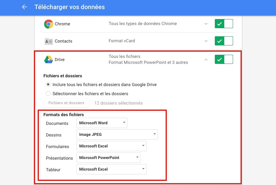 Takeout google drive Comment convertir un Google Docs en document Microsoft Word