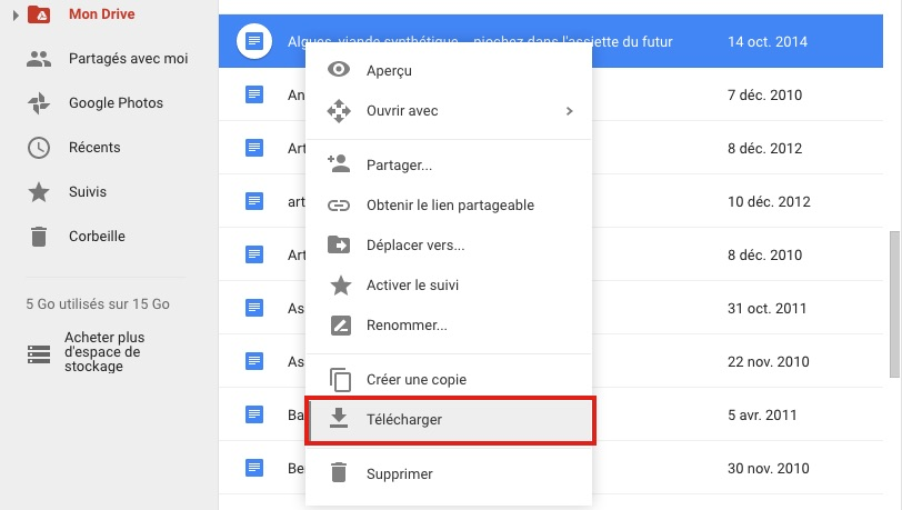 telecharger doc google drive Comment convertir un Google Docs en document Microsoft Word