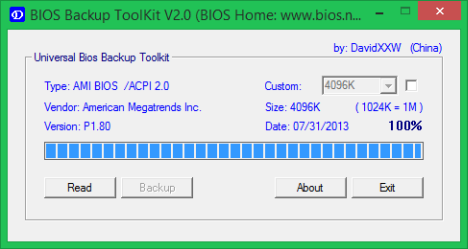 L'update du BIOS proprement dit