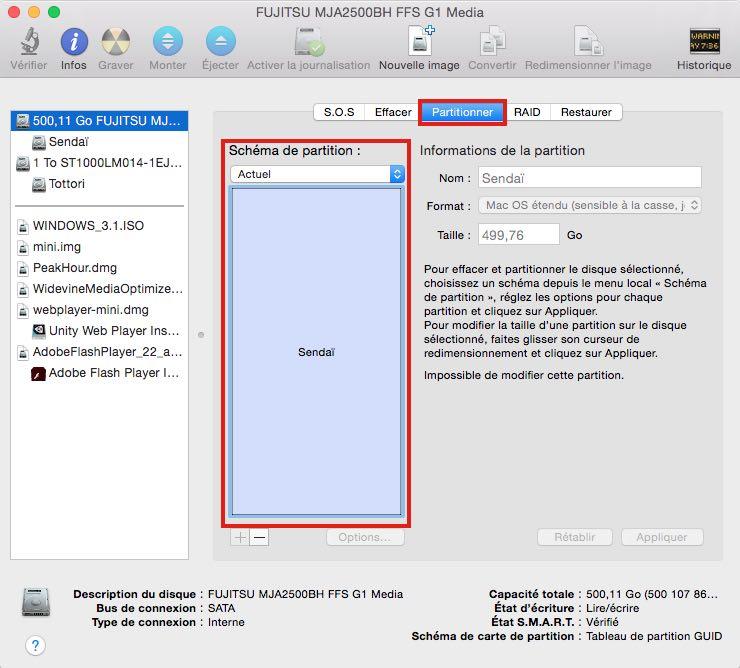 Utilitaire disque Comment installer macOS Sierra sur votre Mac