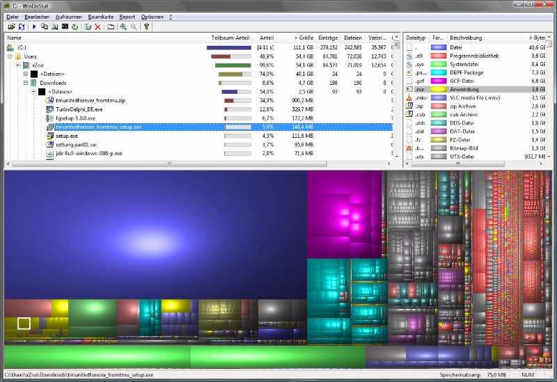 Windirstat - Les meilleurs logiciels gratuits pour nettoyer votre PC