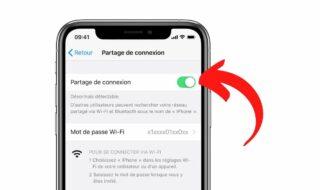 Comment configurer partage de connexion iPhone