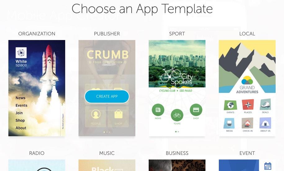 Choisir un template Shoutem