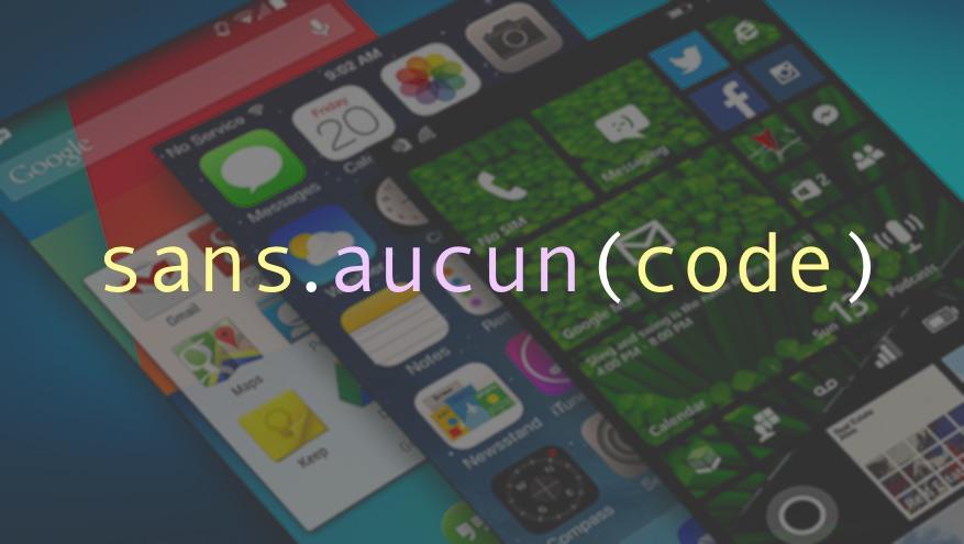 Comment créer une application mobile sans avoir à coder quoi que ce soit