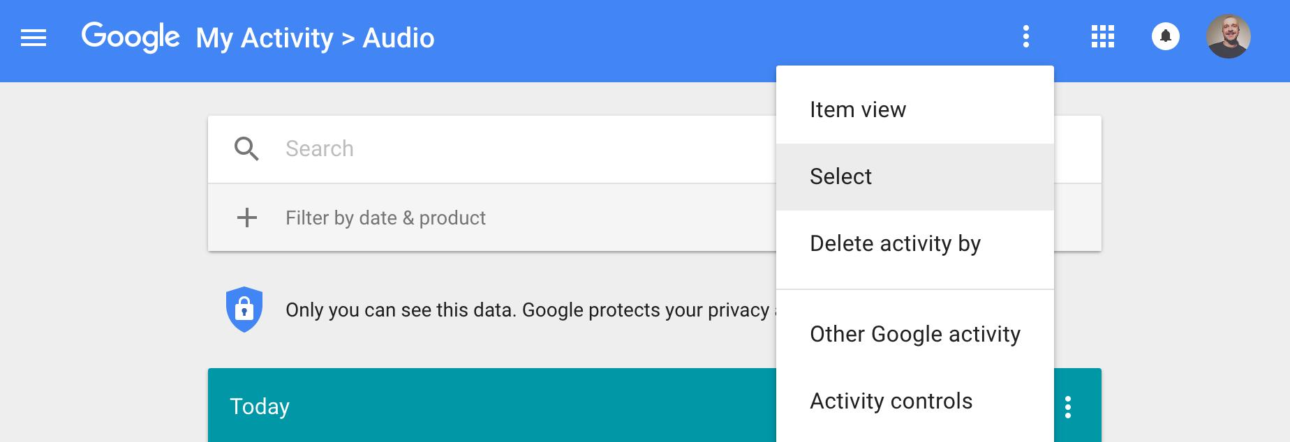 google activity audio