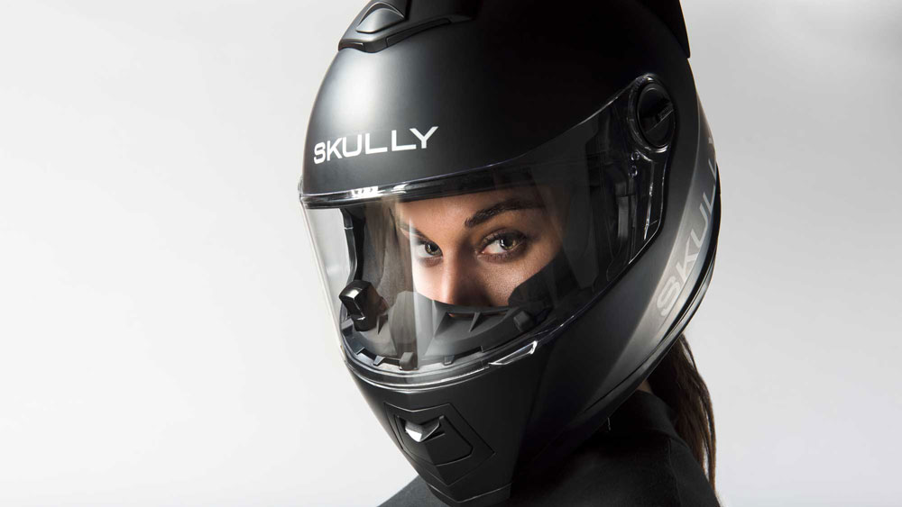 skully casque moto realite augmentee