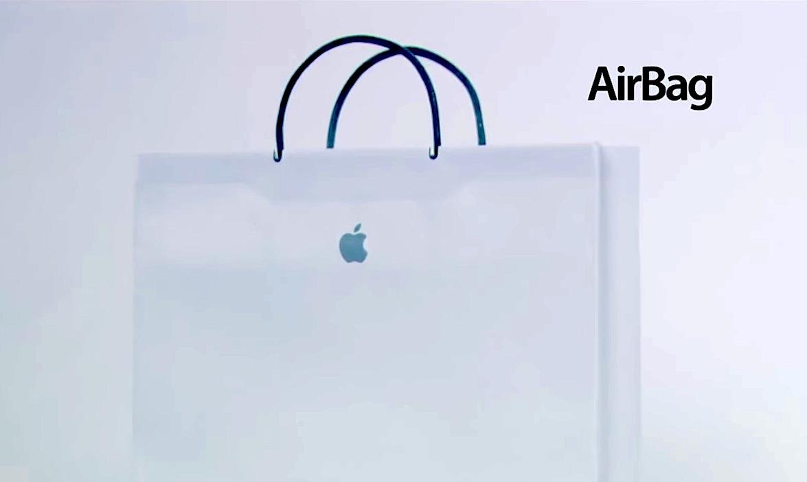"""""""AirBag"""" : dans cette fausse pub, Apple veut vous vendre un sac en papier"""
