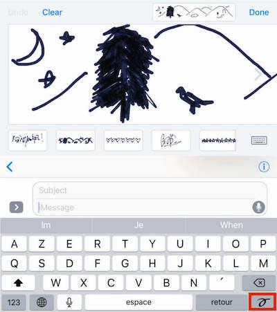 messages dessiner