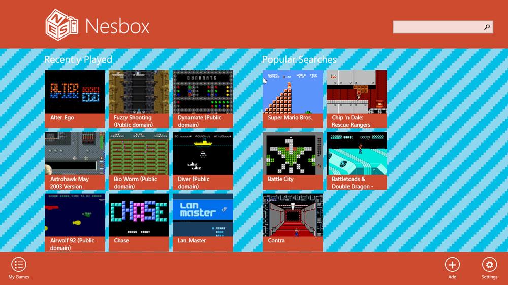 nesbox emulateur interface