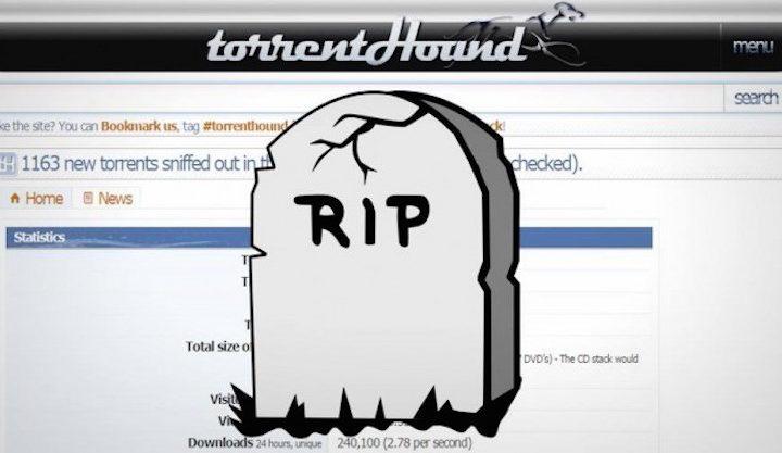 TorrentHound : le site de torrent ferme ses portes, pris dans un effet domino
