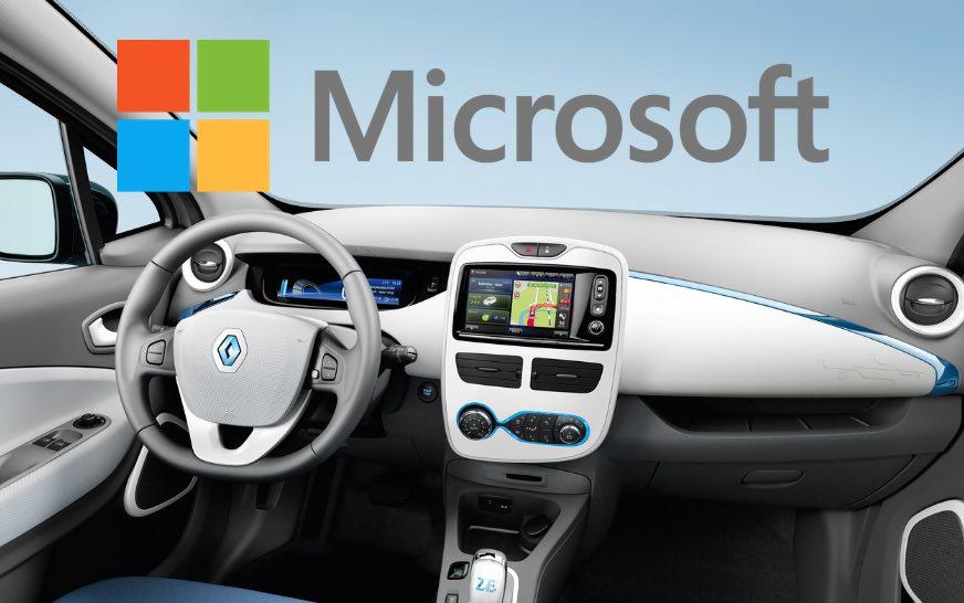 """Voiture connectée : Microsoft et Renault-Nissan veulent leur """"Windows Car"""""""