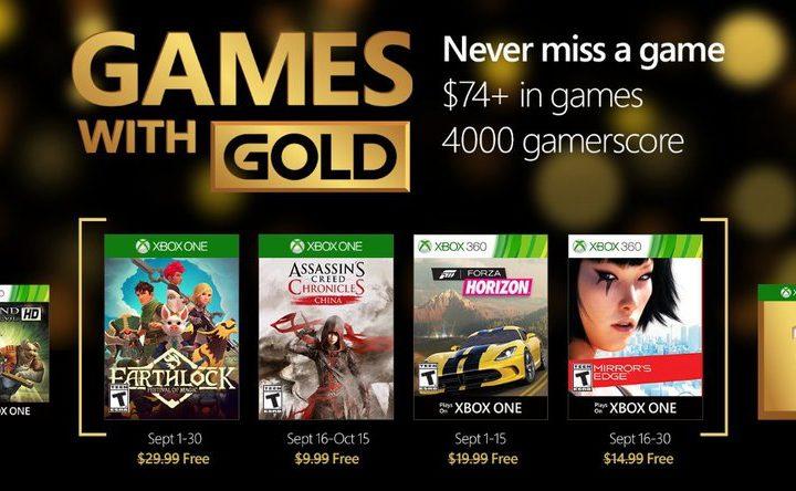 Xbox Live Gold : en septembre Microsoft met le paquet sur les jeux gratuits !