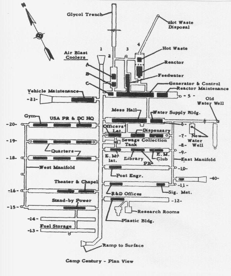 camp century plan complet de la base