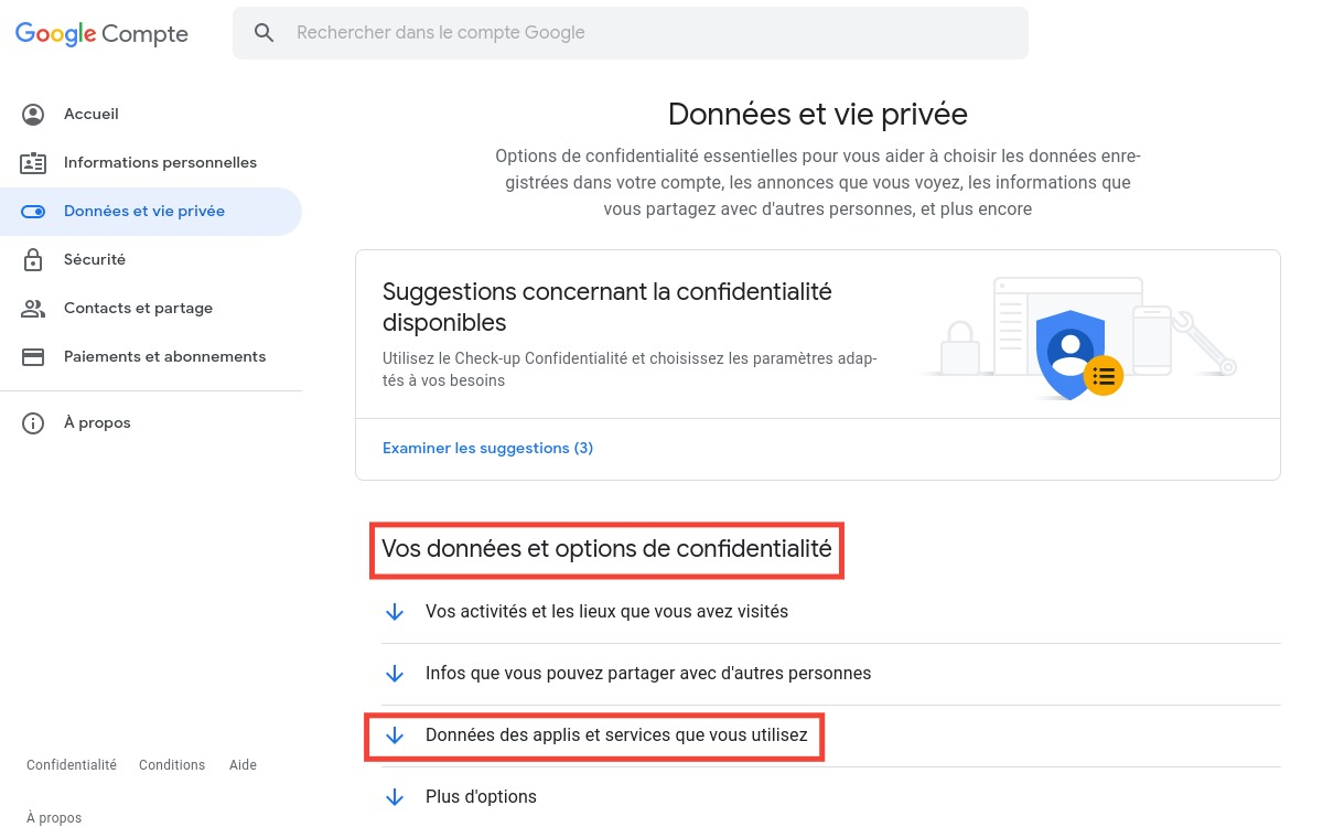 Gmail : supprimer compte