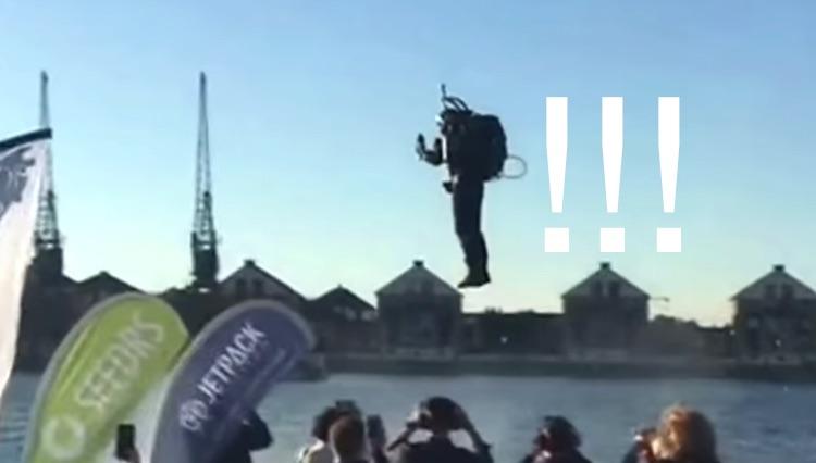 Jetpack : cette démonstration de vol au-dessus de la Tamise fait penser à Iron Man