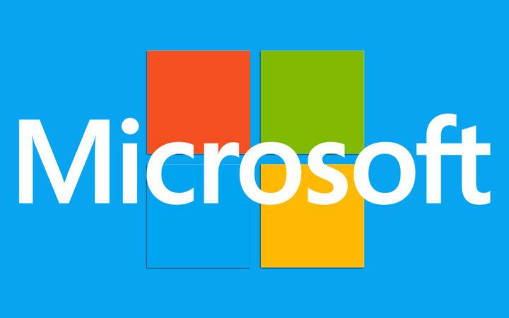 microsoft logo bleu