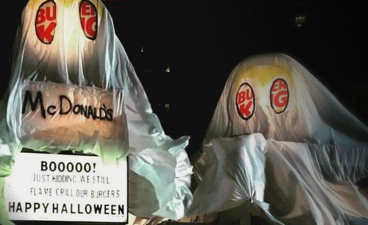 Pour Halloween, ce Burger King s'est déguise en McDonald's !