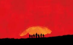 Red Dead Redemption 2 : un premier artwork officiel avec les 7 mercenaires