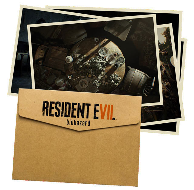 collector resident evil 7 lithographie