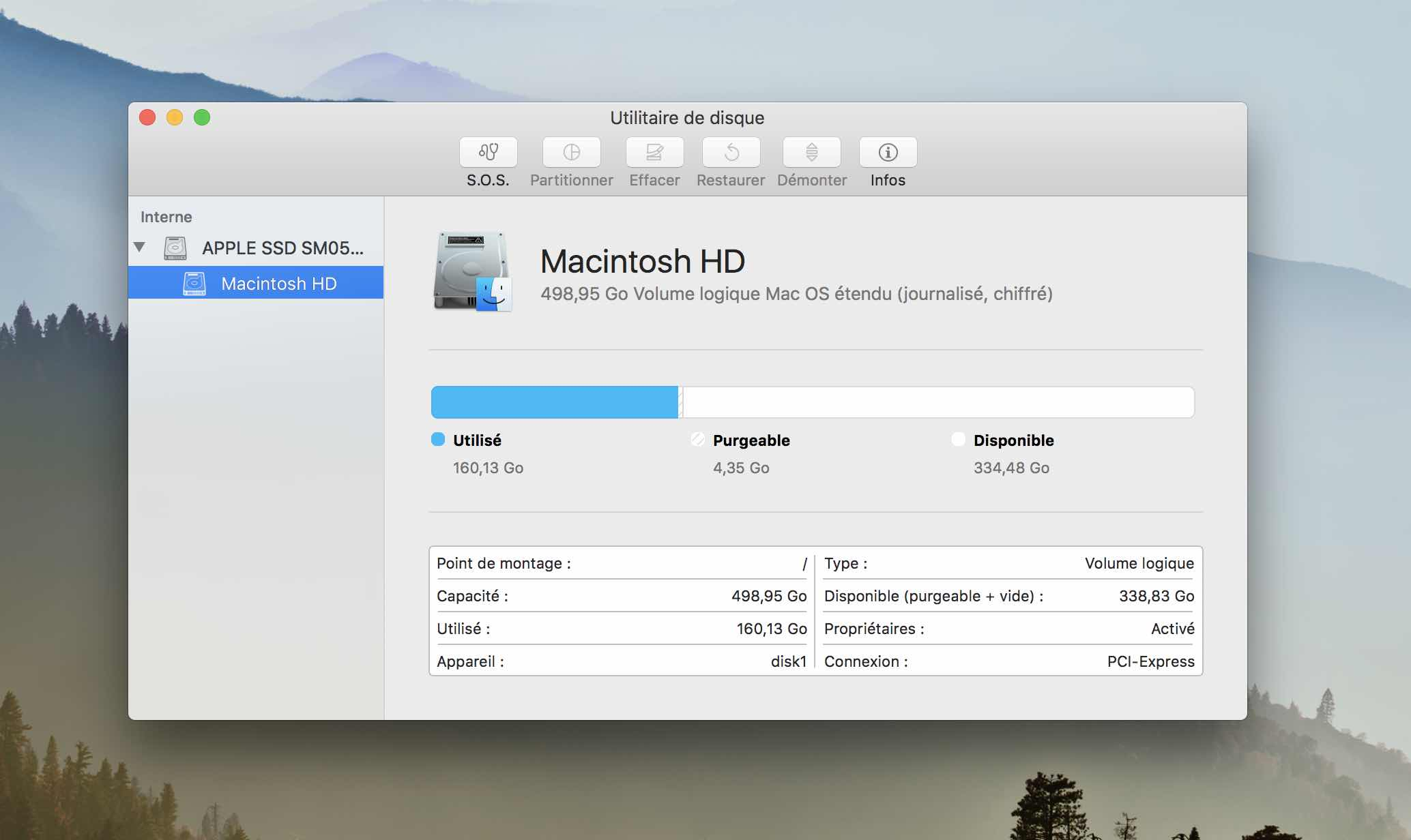 macos formater disque