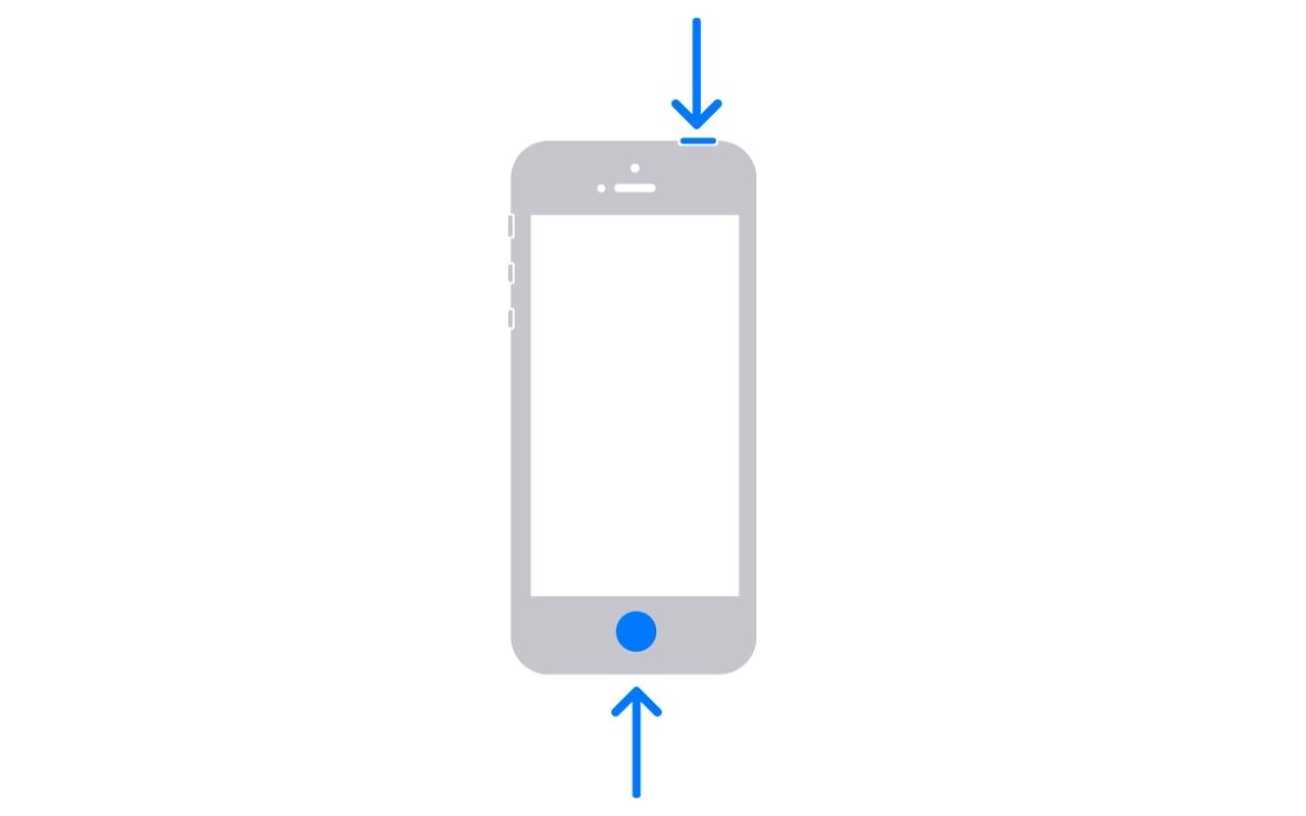 Capture d'écran sur iPhone ancien