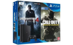 Bon plan Fnac : PS4 Slim + 2e manette + Call of Duty Infinite Warfare + Uncharted 4 à 349€