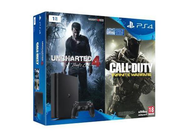 Bon plan Fnac : PS4 Slim + 2e manette + Call of Duty Infinite Warfare + Uncharted 4 à 349€