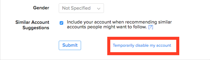 désactiver temporairement votre compte instagram