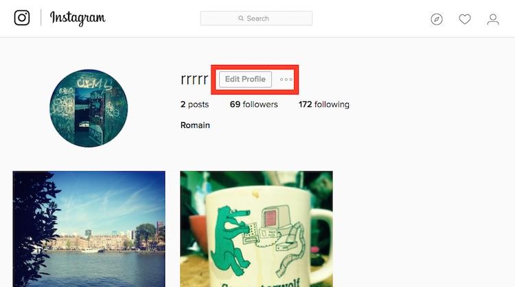 instagram edit profile / éditer le profil