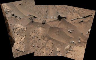 Curiosity prend une macro du sol