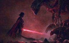 Star Wars : Dark Vador se mesure à Alien dans ces illustrations grandioses