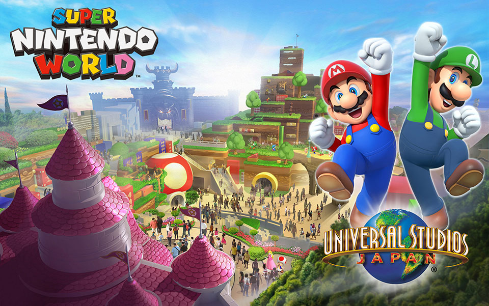 Nintendo dévoile son Parc Super Mario World au Japon!