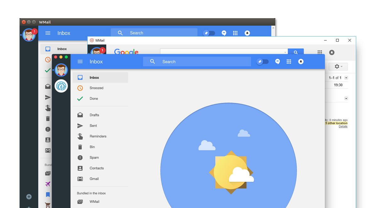 wmail gerer facilement plusieurs adresses gmail inbox parallele